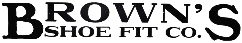 Brown's Shoe Fit logo date unknown