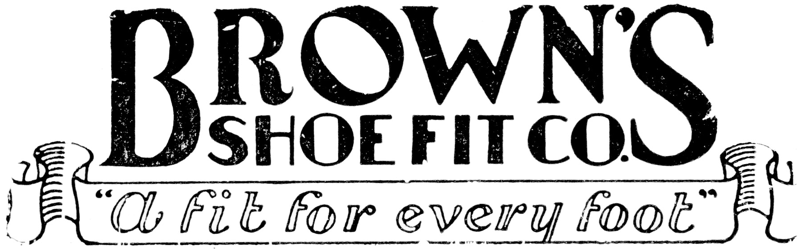 Brown's Shoe Fit old logo about 1930