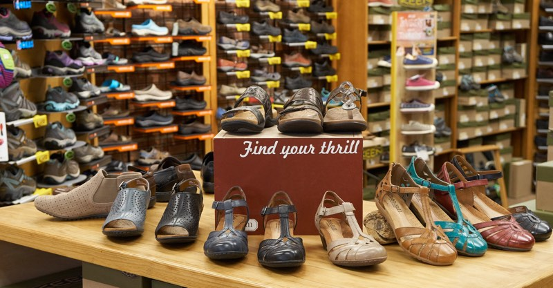 Longmont store women's shoe display photo