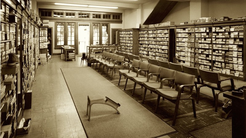 Interior photo of Worthington store date unknown